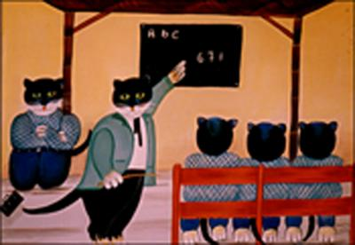 Cats at School by Daniel Louis