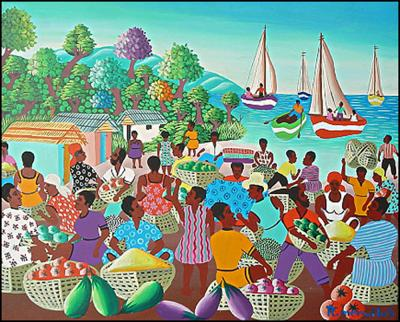 Market by the Water by R. Mervilus