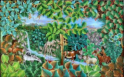Adam & Eve Diptik by Jean Idelus Edme