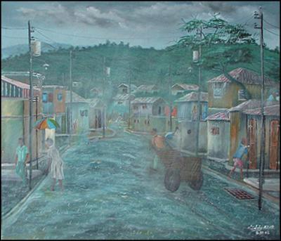 Cart in the Rain by Eddy Azor