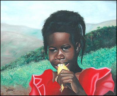 la Fille et la Mangue by James Jason