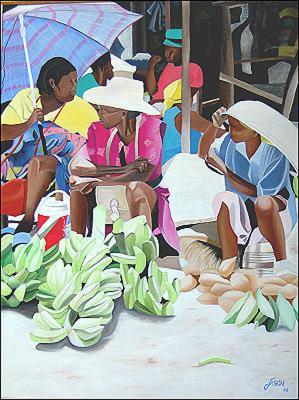 Marchande de Bananes by James Jason