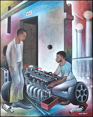 Fixing the Engine by Vital Setalaire Albert