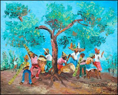 Rara by the Tree 2 by Jean Idelus Edme
