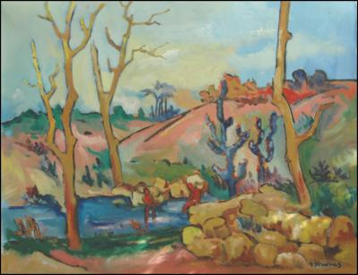 Bathing in the Stream by Georges Desarmes