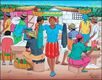 Cloth Merchant by Denis Rousseau