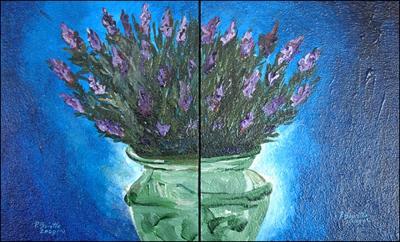 Lavender Sensation - de Droite/de Gauche dyptik by Patricia Brintle