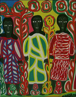 Three Ladies by Magda Magloire