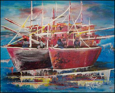 The Boats by Jean Guy
