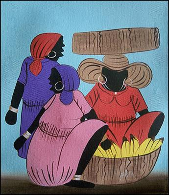 Market Women with Bananas by G Gilot