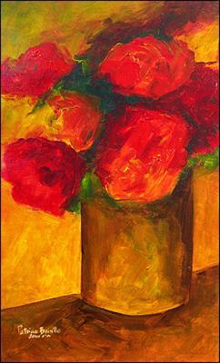 Seven Peonies by Patricia Brintle