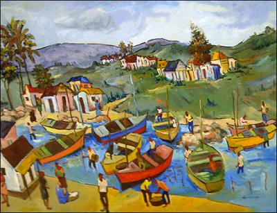 Village by the Water by Georges Desarmes