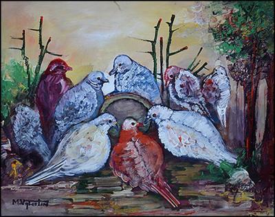 Pidgeons by Michel Valestin