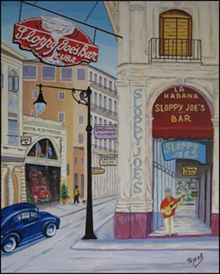 Sloppy Joe's Bar - Cuba by Isidoro  Tejeda