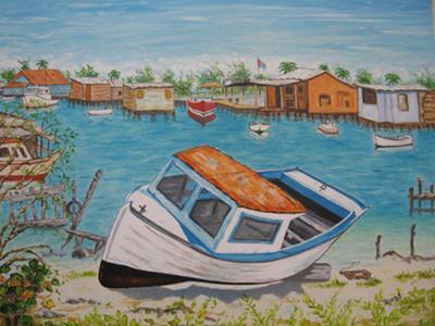 Botes en la Laguna de Sta. Fe by Isidoro  Tejeda