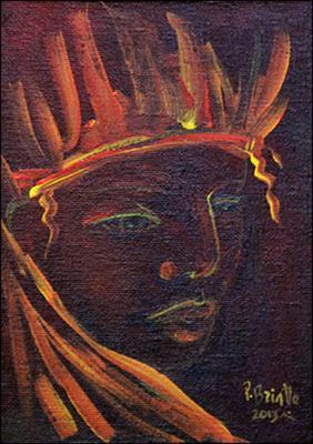 Pensive Taino by Patricia Brintle