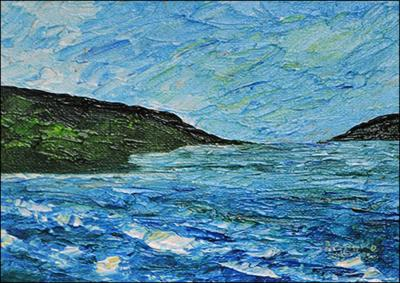 Waves in Tiburon by Patricia Brintle