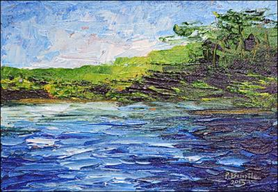 Passing Lac de Maragoane by Patricia Brintle
