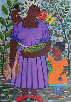 Mother with Children by Roger Francois