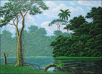 Tranquil Lake by Fabio Rojas