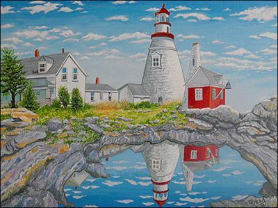 Faro de Maine by Isidoro  Tejeda
