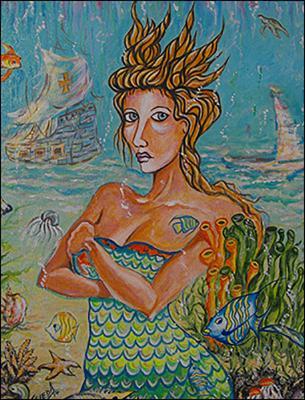 La Sirena Yemaya by Isidoro  Tejeda