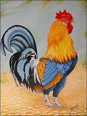 El Gallo de Felicia by Isidoro  Tejeda