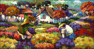 Picking Flowers by Alceu Rogoski