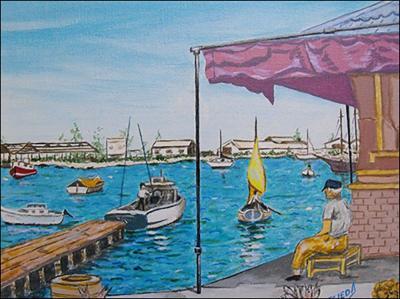 Rio Almendares con Botes Habana by Isidoro  Tejeda