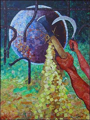 Liberte ou la faim by Mario Calixte