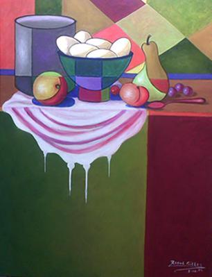 Peach Still Life by Raoul Gilles