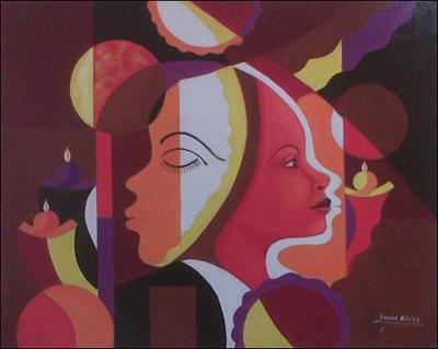 Candle Lovers by Raoul Gilles