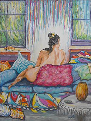 Relaxing on the Sofa (Descanso en el Sofa) by Isidoro  Tejeda
