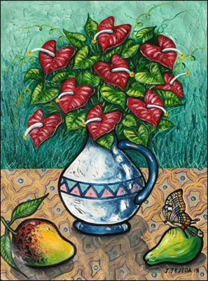 Flowers, Fruits & Butterfly (Flores, Frutas y Maripoza) by Jorge Tejeda