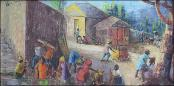Village Scene by Rose-Marie Desruisseau