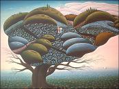 Love Tree in Blue by Lucien Joel