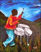 Ti-Jean - Steel drummer by Patricia Brintle