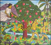 Adam & Eve Leaving the Garden of Eden by Lucien Saul