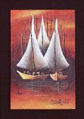 Trois Bateaux by Michael Brudent