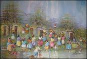 Busy Village by Watson Etienne