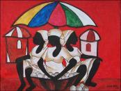 Marche sous un Parasol by Lesly Cetout