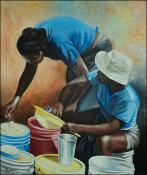 Preparing Dinner by Cherry David
