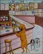 Bodeguita del Medio con Perros by Isidoro  Tejeda