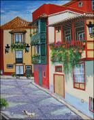 Calle en la Palma, Gran Canaria, Spain by Isidoro  Tejeda