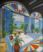 Casa Colonial con Vitral by Isidoro  Tejeda