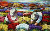 Tending the Flowers by Alceu Rogoski