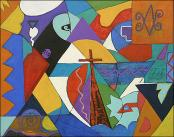 Composition 7 with Cross by Denise Felix