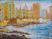 Malecon de la Habana, Cuba Desde el Mar by Isidoro  Tejeda