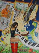 The Music and the Painting (La Musica y la Pintura) by Isidoro  Tejeda