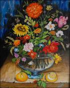 Flores y Naranjas by Isidoro  Tejeda